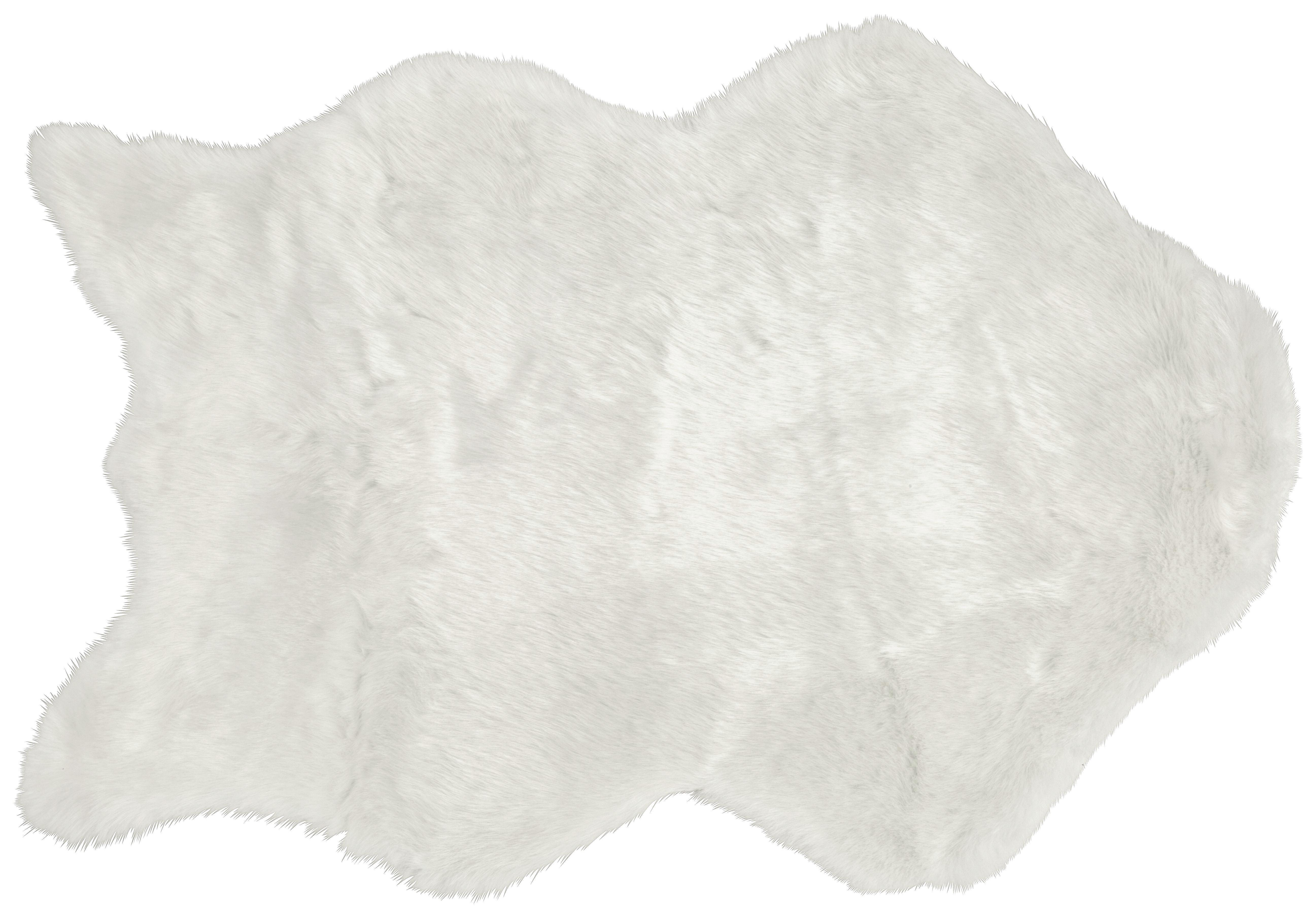 Kunstfell Lisa in Weiß, ca. 60x90cm - Weiß, Textil (60/90cm) - MÖMAX modern living