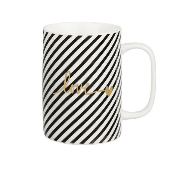 Kávésbögre Gloria - fekete/arany színű, modern, kerámia (7,9/10,8cm) - MÖMAX modern living