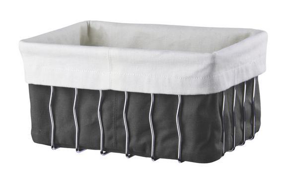 Košarica Za Kruh Ella - črna/bela, Moderno, kovina/tekstil (23/16/11,5cm) - Mömax modern living
