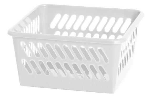 Korb Mimi Weiß - Weiß, Kunststoff (9,5/4,9/9,5cm) - Mömax modern living
