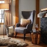 Sessel in Grau 'Daisy' - Schwarz/Grau, MODERN, Holz/Textil (76/119/83cm) - Bessagi Home