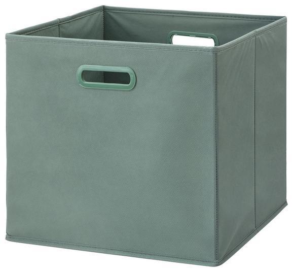 Zložljiv Zaboj Elli -ext- -top- - zeleni žad, Moderno, karton/tekstil (33/33/32cm) - Modern Living