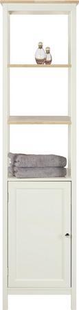 Badezimmerschrank Jule - Fichtefarben/Weiß, MODERN, Holz/Metall (40/160/38cm) - MODERN LIVING