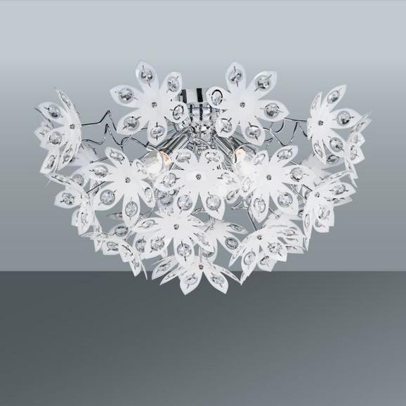 Mennyezeti Lámpa Julia - tiszta/fehér, romantikus/Landhaus, műanyag (55/30cm)