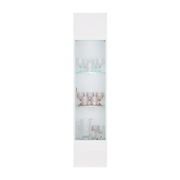 Hängevitrine in Weiß Hochglanz - Chromfarben/Weiß, Holzwerkstoff/Kunststoff (35/160/30cm) - Mömax modern living