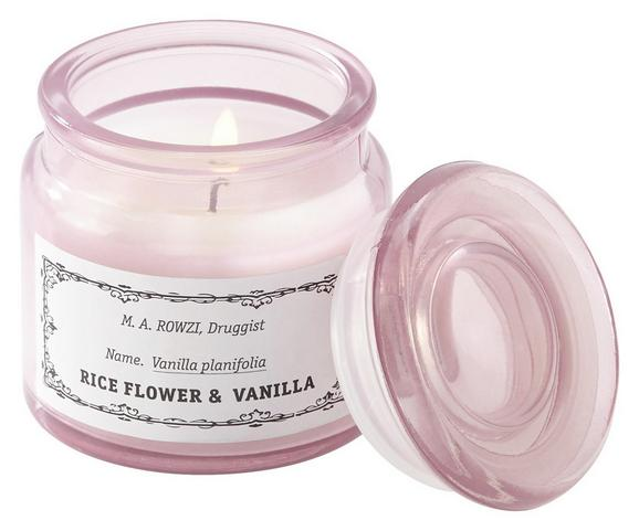 Sveča V Kozarcu S Pokrovčkom Aurelie - bela/svetlo roza, steklo (6,5/7cm) - Mömax modern living