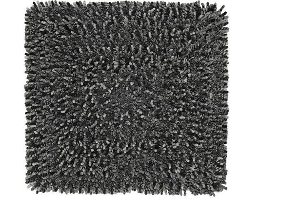 Badematte Moritz Grau/Weiß/schwarz - Anthrazit/Schwarz, Textil (50/50cm) - Mömax modern living