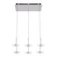 LED-Hängeleuchte max. 5 Watt 'Lou' - Silberfarben, MODERN, Glas/Metall (48/23/120cm) - Bessagi Home