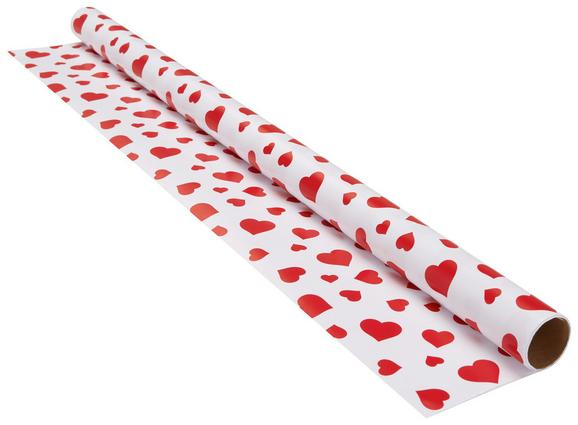 Geschenkpapier Marie in Rot/Weiß - Rot/Weiß, Papier (70/200cm) - Mömax modern living