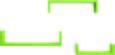 Set Stenskih Polic U-bord - zelena, Moderno, leseni material (10/10/42cm)