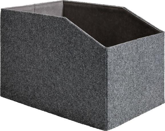 Box Nadine - Dunkelgrau, Textil (36/23,5/23cm) - Mömax modern living