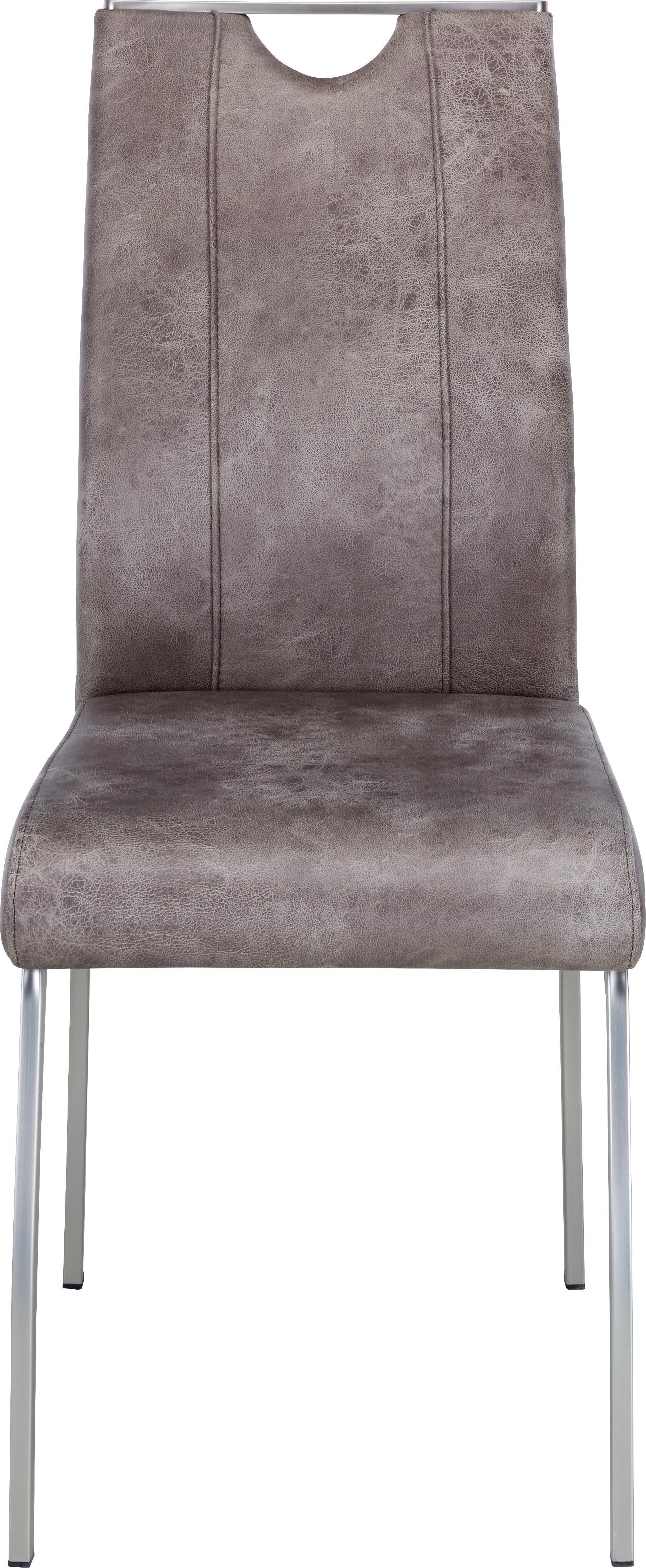 Stuhl in Edelstahloptik - MODERN, Kunststoff/Metall (43/102/58cm) - MÖMAX modern living