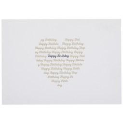 Postkarte Happy Birthday - Goldfarben/Schwarz, Papier (14,8/10,5cm)
