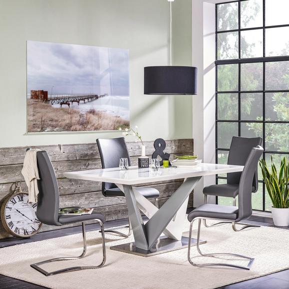 esstisch grau wei hochglanz online kaufen m max. Black Bedroom Furniture Sets. Home Design Ideas