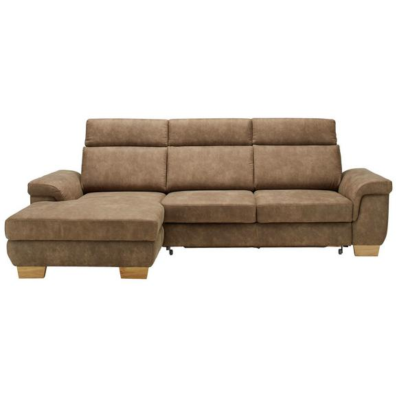 Sedežna Garnitura Flaming - naravna/rjava, Konvencionalno, tekstil/les (160/103/274cm) - Premium Living