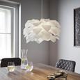 Pendelleuchte Tania - Weiß, MODERN, Kunststoff (52/141cm) - Bessagi Home