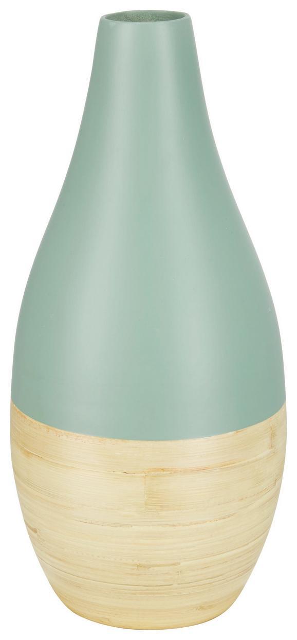 Vase Naturelle Naturfarben/rosa - Naturfarben/Mintgrün, Holz (15/33cm) - Mömax modern living