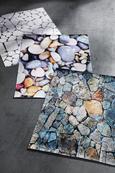 Teppich Digitaldruck Kiesel 70x130cm - Dunkelgrau/Hellgrau, Textil (70/130cm) - Mömax modern living