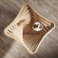 Couchtisch aus Mangoholz Massiv - Naturfarben, LIFESTYLE, Glas/Holz (83/42/83cm) - Premium Living