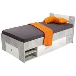 Postelja Azurro 90 - bela/svetlo siva, Moderno, leseni material (204/75/95cm) - Mömax modern living