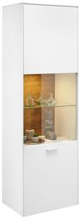 Vitrina Arizona - bela/krom, Moderno, kovina/umetna masa (60/189/42cm) - Premium Living