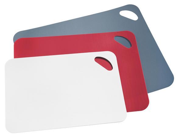 Vágódeszka Mano - piros/fehér, konvencionális, műanyag - MÖMAX modern living