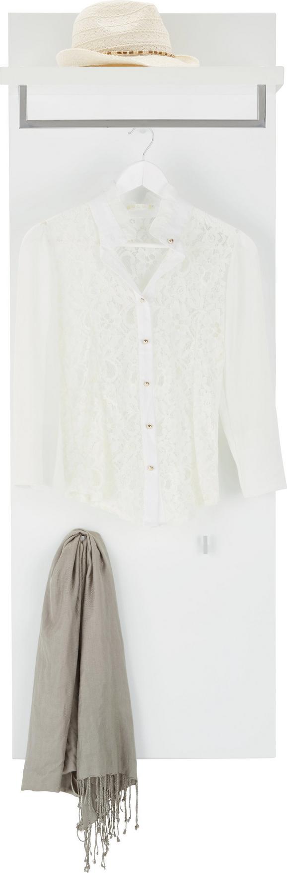 Garderobenpaneel Weiß Hochglanz - Weiß, MODERN, Holzwerkstoff (48/140/33cm) - Mömax modern living