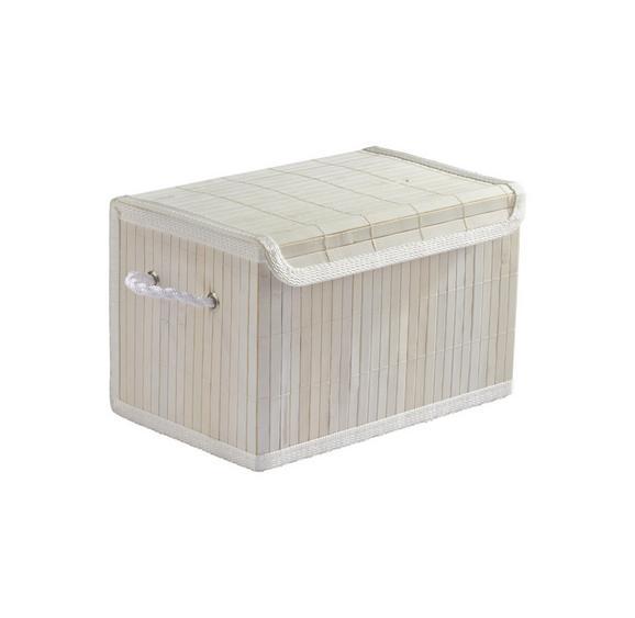 Košara Bamboo White - bela, tekstil/les (29/18/19cm) - Mömax modern living