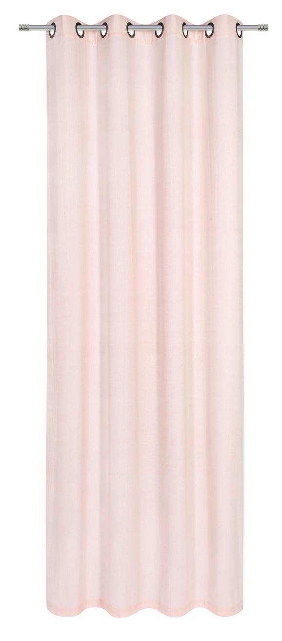 Ösenvorhang Noah in Rosa, ca. 140x250cm - Rosa, ROMANTIK / LANDHAUS, Textil (140/250cm) - Mömax modern living