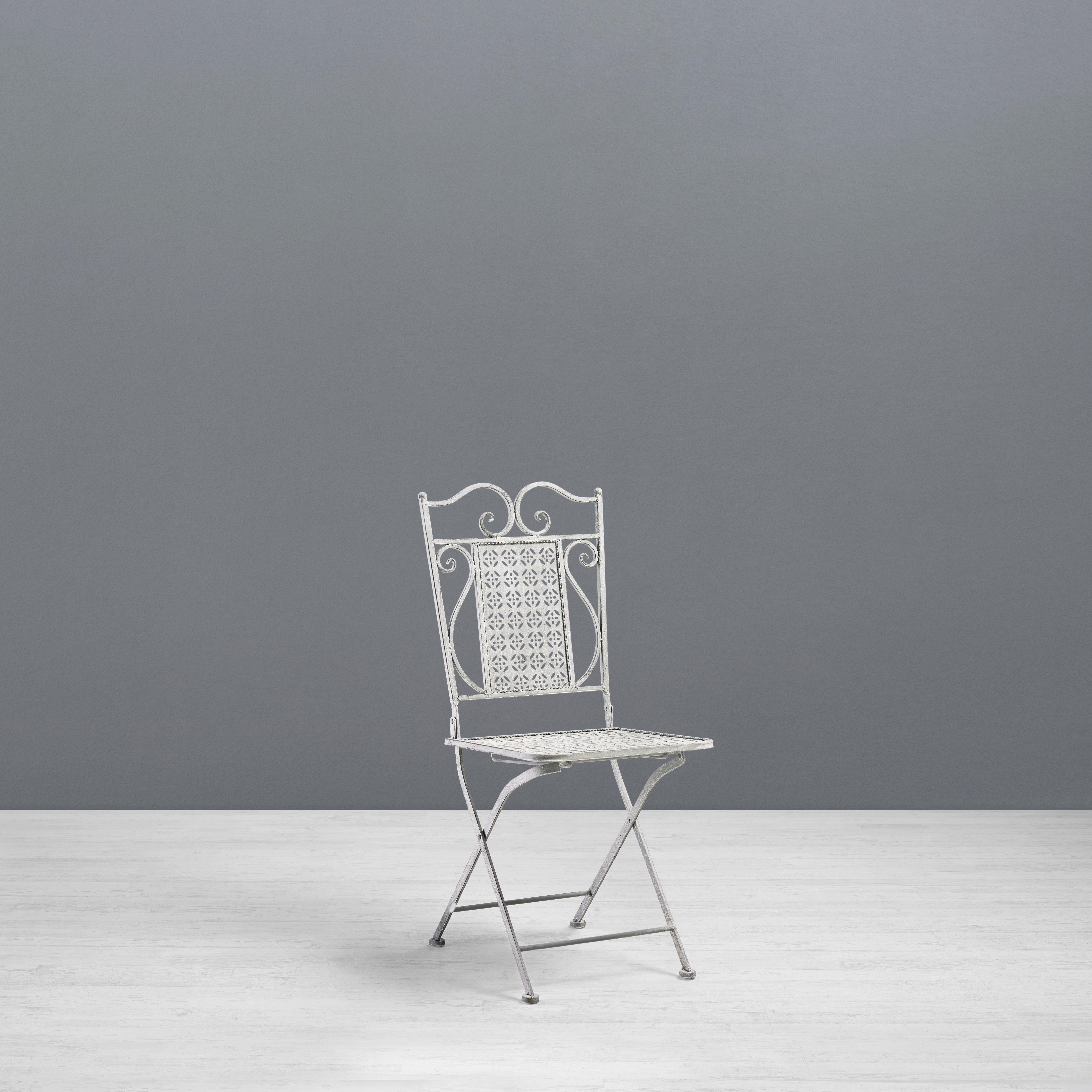 Gartenstuhl Lianne - Hellbraun/Hellgrau, MODERN, Metall (38/92/38cm) - MODERN LIVING