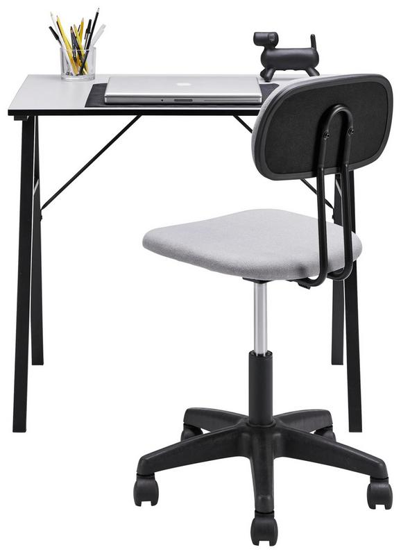 Mini-office in Grau/Schwarz - Schwarz/Grau, Holzwerkstoff/Kunststoff (80/74/50cm)