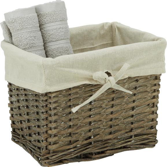 Košara Za Regal Larry - naravna, Romantika, tekstil/les (29/22/21cm) - Mömax modern living