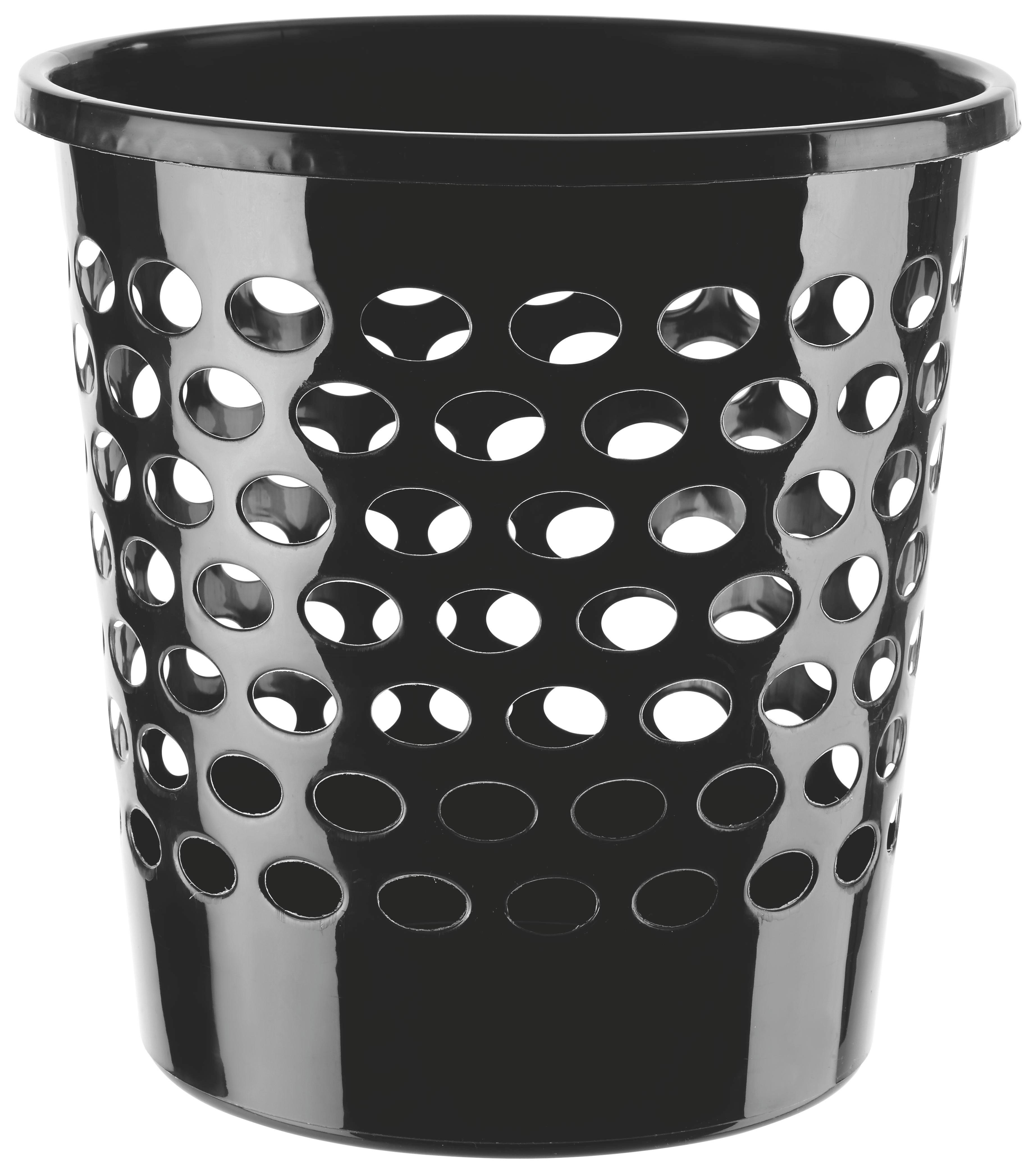 Papírkosár 10 Liter - fekete, műanyag (25/26cm) - MÖMAX modern living