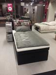 Postelja Boxspring Amalfi London - siva/svetlo siva, Konvencionalno, tekstil (227/106/109cm) - Premium Living