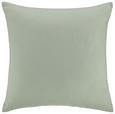 Zierkissen Zippmex Hellgrün ca. 50x50cm - Hellgrün, Textil (50/50cm) - Based