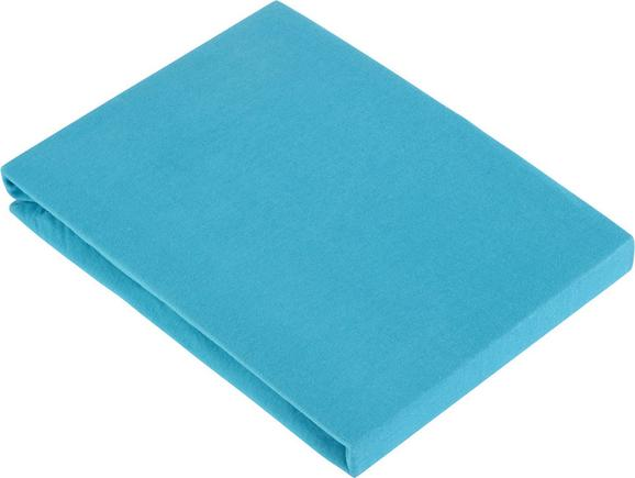 Spannbetttuch Basic In Azur, ca. 100x200cm - Blau, Textil (100/200cm) - MÖMAX modern living