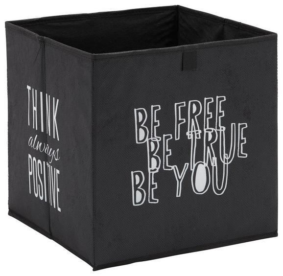 Škatla Za Shranjevanje Poppi 2 - črna/bela, Moderno, karton/tekstil (32 32 32cm) - Mömax modern living