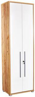 Pisaniška Omara Profi - bela/temno rjava, Moderno, leseni material (75/220/35cm) - Mömax modern living