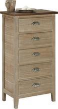 Kommode Savannah Antik - Kieferfarben, Holz/Metall (50/92/33cm) - Premium Living