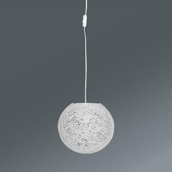 Függőlámpa Gömb Alakú - fehér, Lifestyle, további természetes anyagok (30cm) - MÖMAX modern living