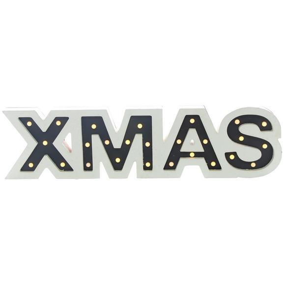 LED-Dekoleuchte Xmas Max. 1,56 Watt - Weiß, KONVENTIONELL, Holzwerkstoff (60/3,5/15cm) - Modern Living