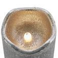 LED-Kerze Loa H ca. 15 cm - Silberfarben, MODERN, Naturmaterialien (15cm) - Bessagi Home