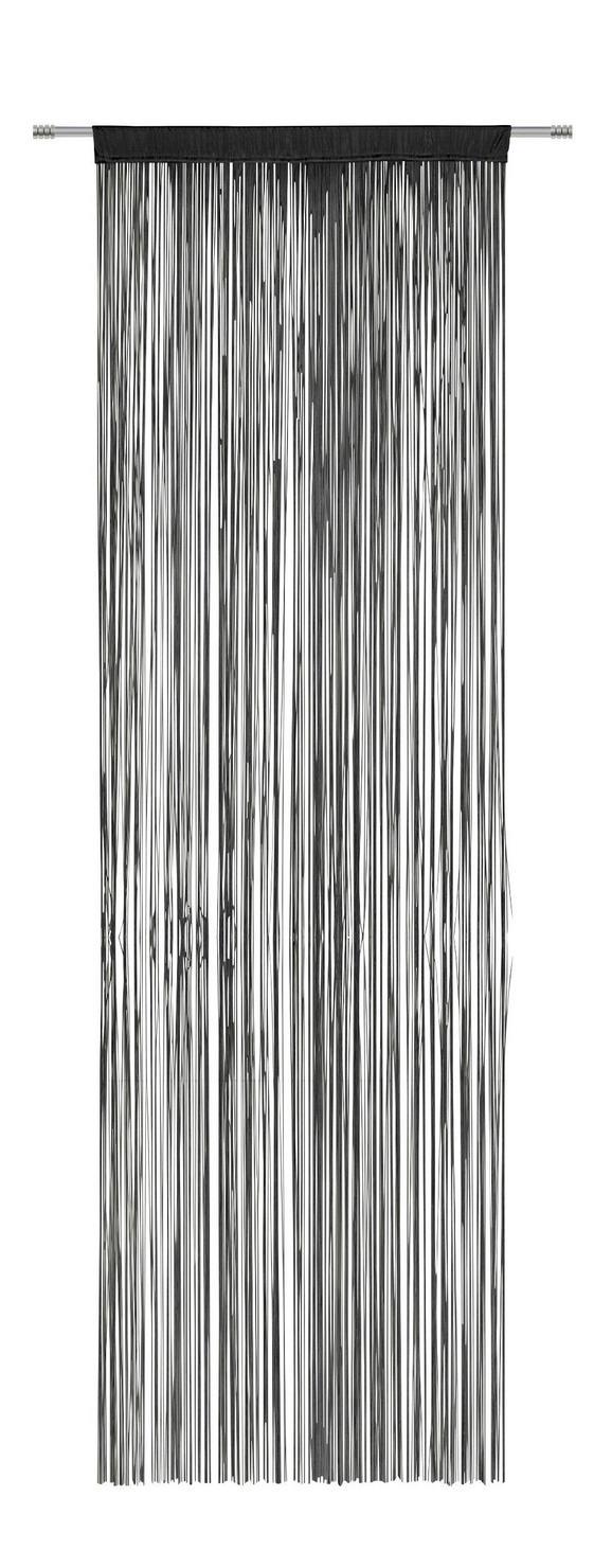 Nitasta Zavesa Victoria - črna, tekstil (90/245cm) - Mömax modern living