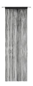 Zsinórfüggöny Victoria - Fekete, Textil (90/245cm) - Mömax modern living