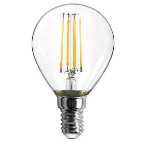 LED-Leuchtmittel max. 4 Watt - Klar, Glas/Metall (4,5/8cm)