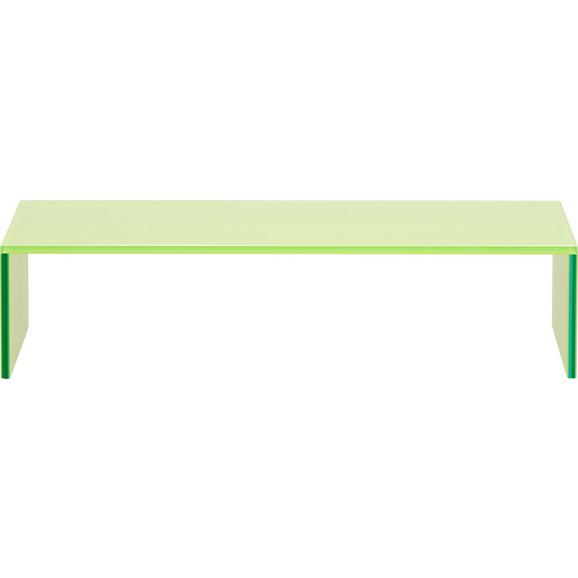 Tv-stojalo Cono Zelena - zelena, steklo (60/14/35cm)