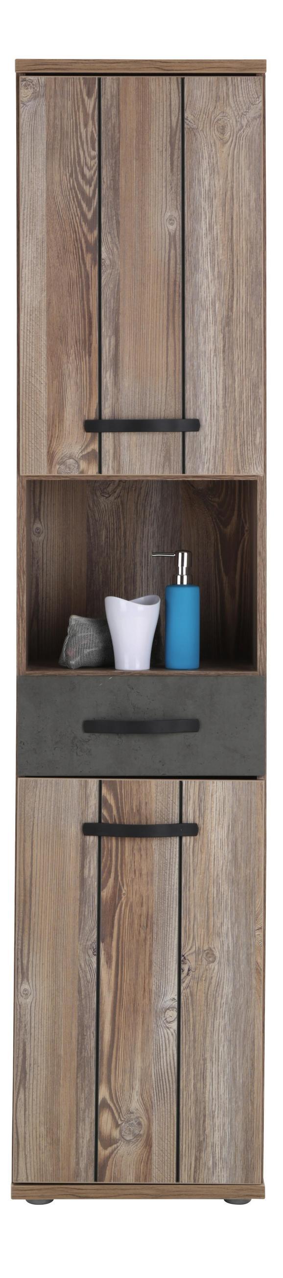 Visoka Omara Catherine - temno siva/bor, Moderno, kovina/umetna masa (41/183/35cm) - Mömax modern living