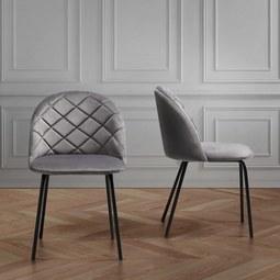 Stuhl Selina - Schwarz/Grau, MODERN, Holz/Textil (48,5/78/54cm) - Mömax modern living