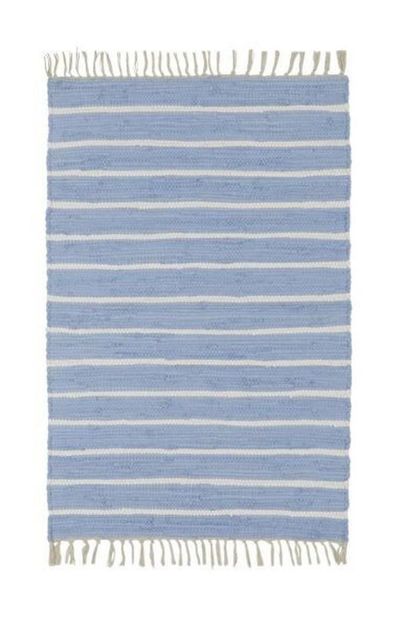 Handwebteppich Toni in Blau, ca. 60x120cm - Blau, MODERN, Textil (60/120cm) - Mömax modern living