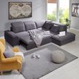 Canapea Modulară Paris - gri închis/grafit, Modern, compozit lemnos/lemn (305/253cm) - Modern Living